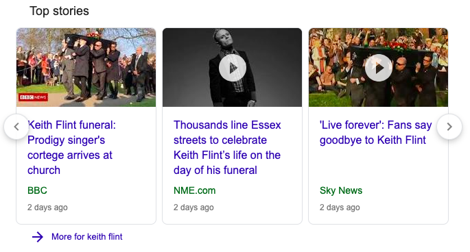 Keith Flint Google News