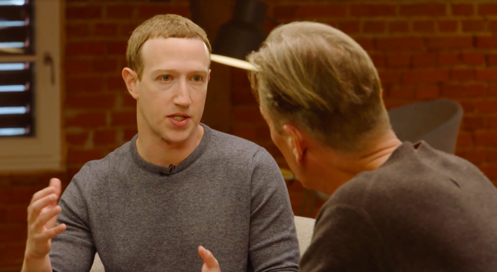 Mark Zuckerberg and Matthias Döpfner discuss Facebook's news tab