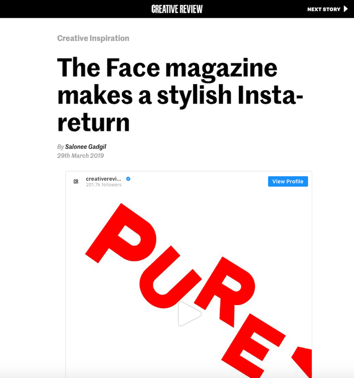 Creative Review Apple News Desktop