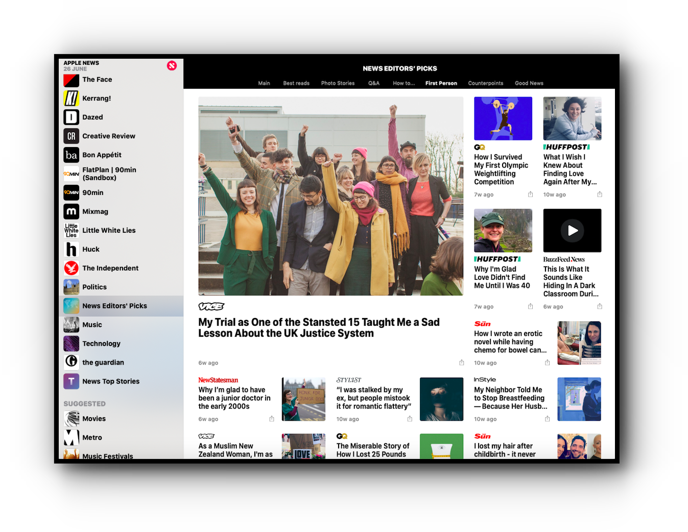 An Apple News Editorial Group