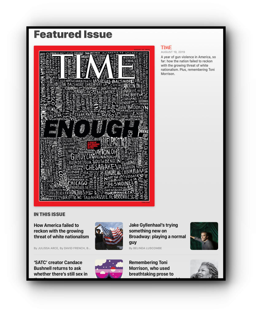 time magazine apple news+ featured issue