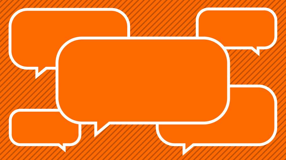 Orange speech bubbles